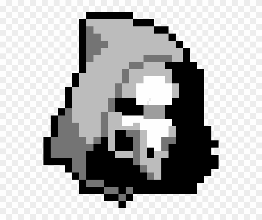 Overwatch Reaper Pixel Art Minecraft Skin Fortnite Clipart
