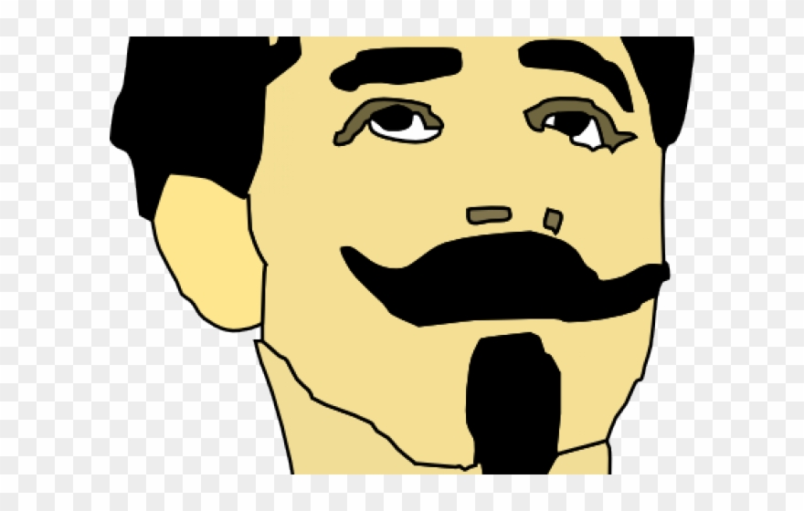 Mustache man. Nose clipart cartoon with