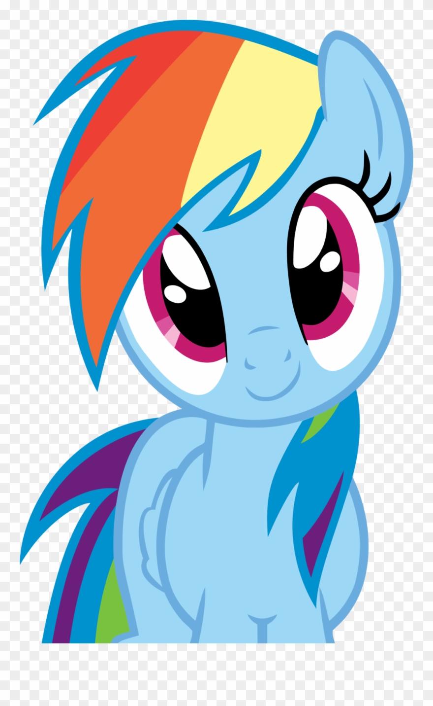 - Rainbow Dash Innocent Smile By Rontoday - My Little Pony Rainbow