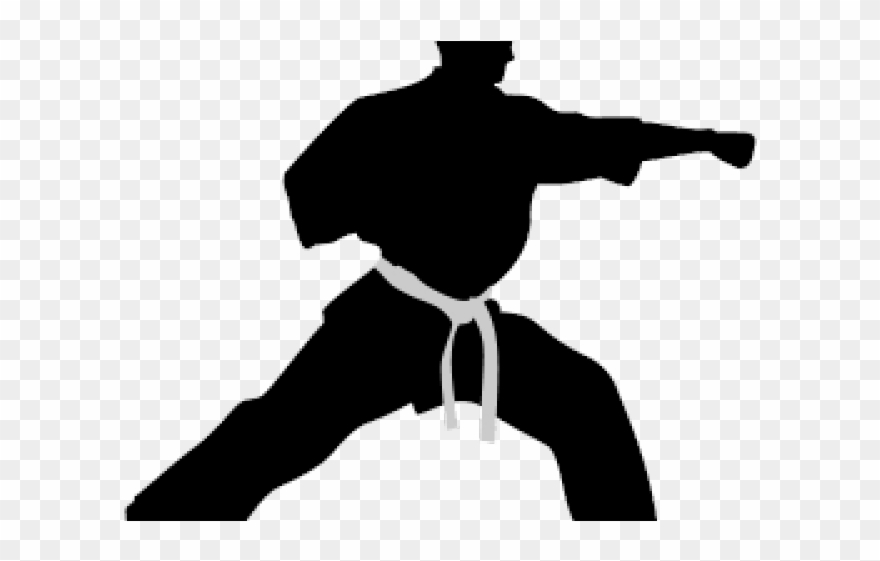 Martial Arts Clipart Symbol Silhouette Martial Arts Png Transparent Png 2065577 Pinclipart