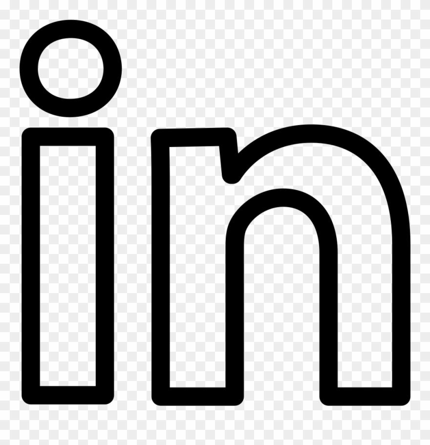 Linkedin Social Outline Logotype Comments White Linkedin