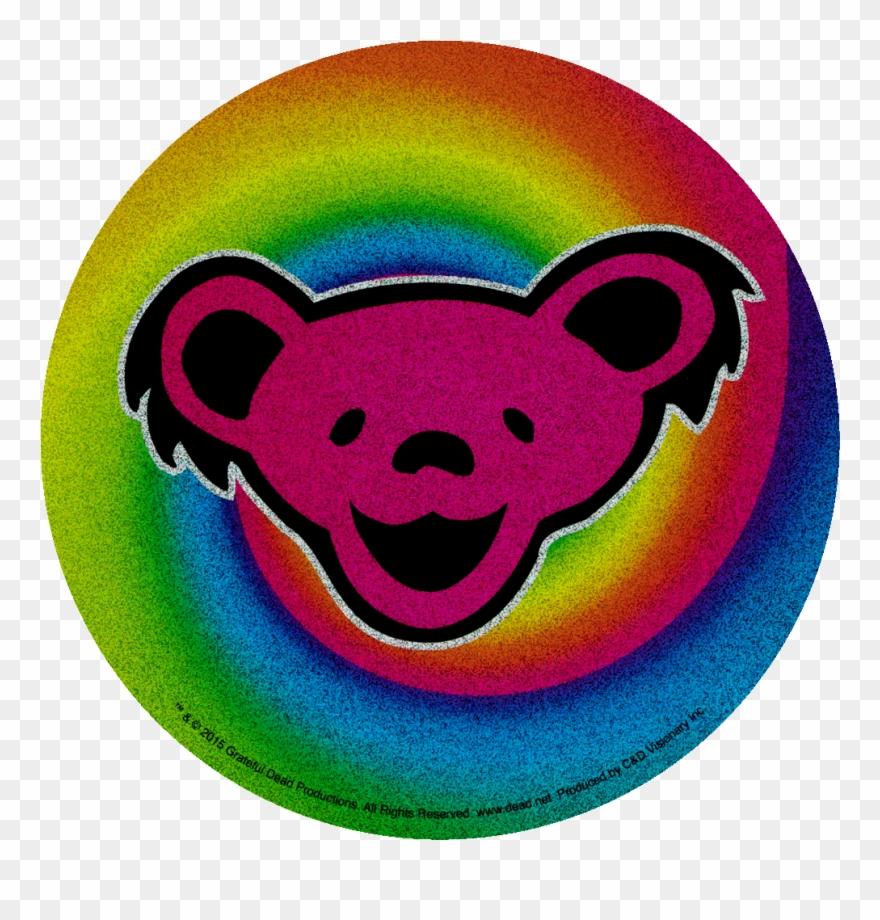 Grateful Dead Dancing Bear On Swirl Glitter - Grateful Dead