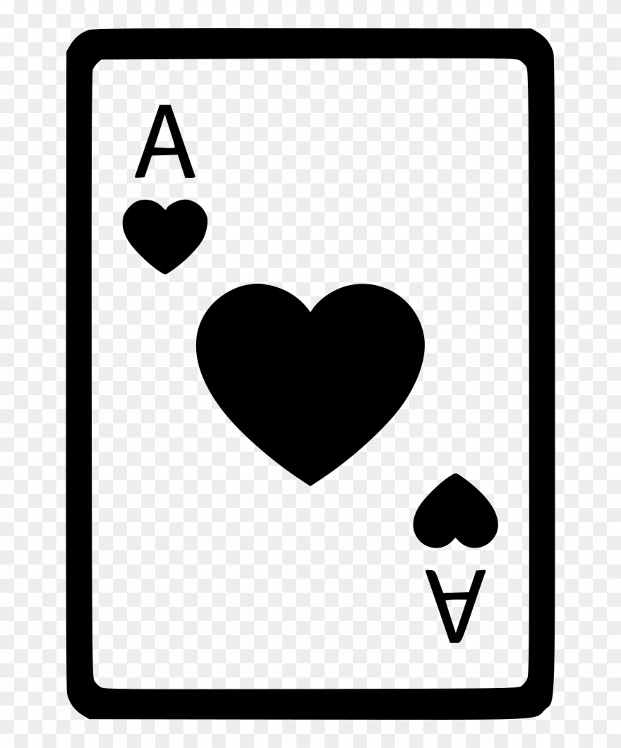 Ace Of Hearts Card Poker Comments Ace Of Clubs Png Clipart 211504 Pinclipart