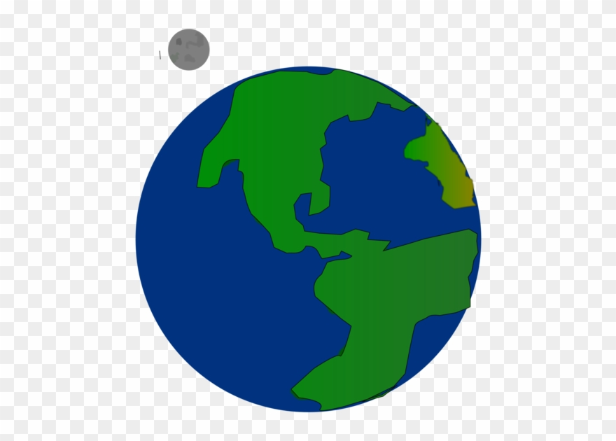 Planet earth. Clipart globe the flat