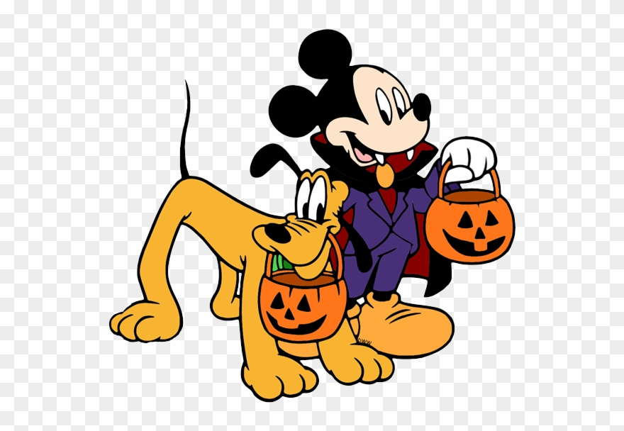 Disney Halloween Clip Art - Mickey Mouse - Png Download (#214853) - PinClipart