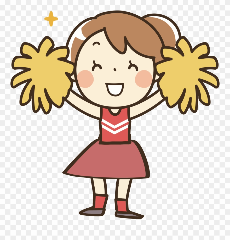 Clothes Clipart Cheerleader - Pom Pom Girl Dessin - Png Download