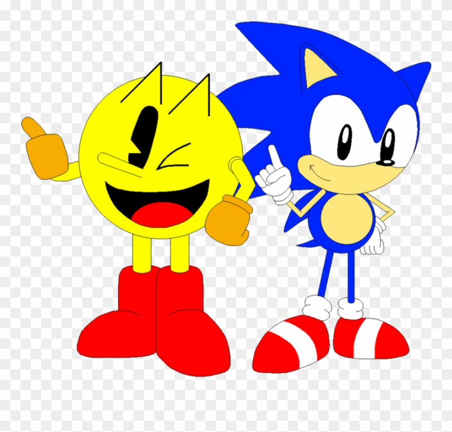 And Sonic Pixel Art Pacman And Sonic Clipart 2100211 Pinclipart