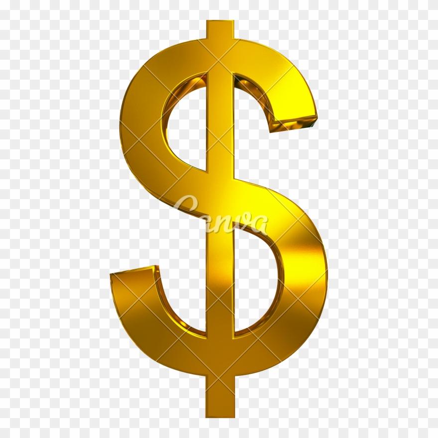 Dollar sign gold. Golden transparent image clipart