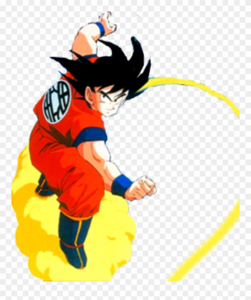Goku Clipart Fly - Goku Flying Nimbus Png Transparent Png