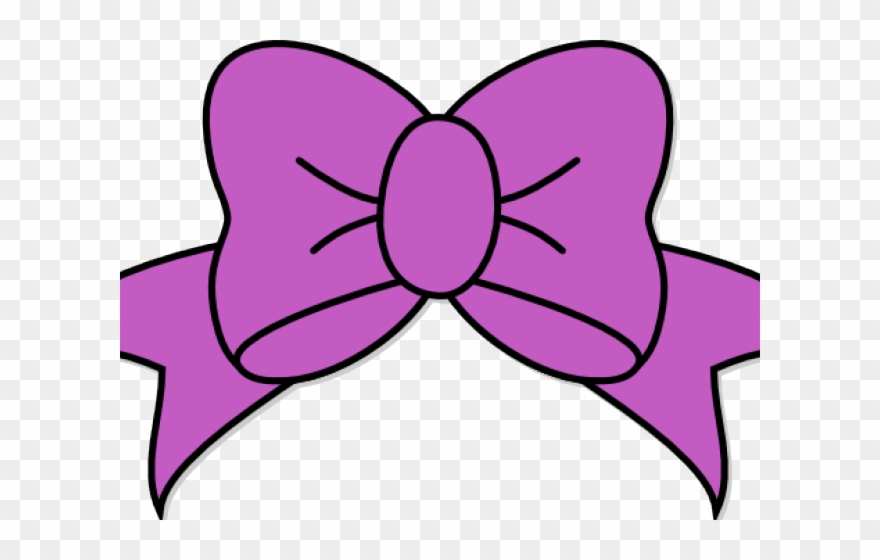 Bow hair. Lilac clipart svg free