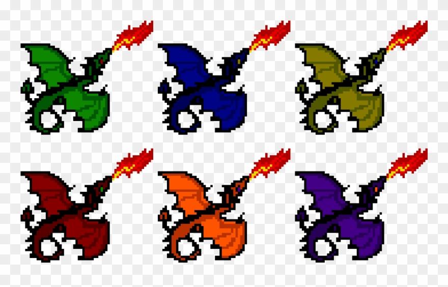 Pixels Art Facile Dragon Clipart 2115777 Pinclipart