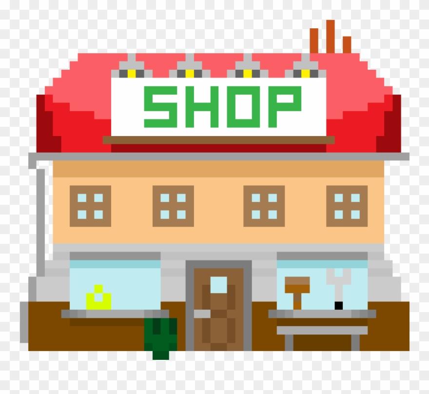 Pixel Art Building Illustration Clipart 2119567