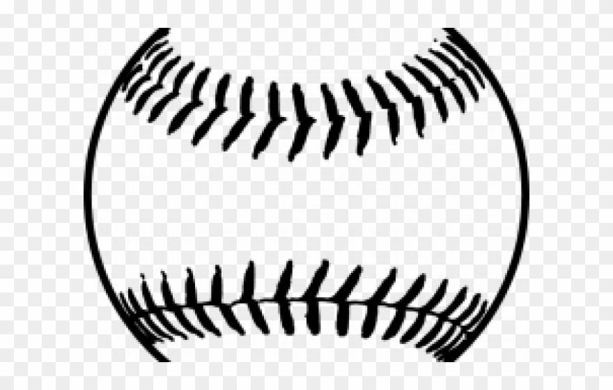 Softball outline. Tail clipart baseball clip