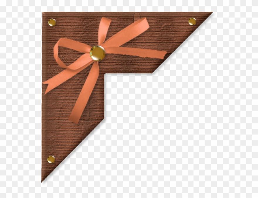 Bordures,tubes Coins,corners Flower Frame, Scrapbook - Wood Clipart