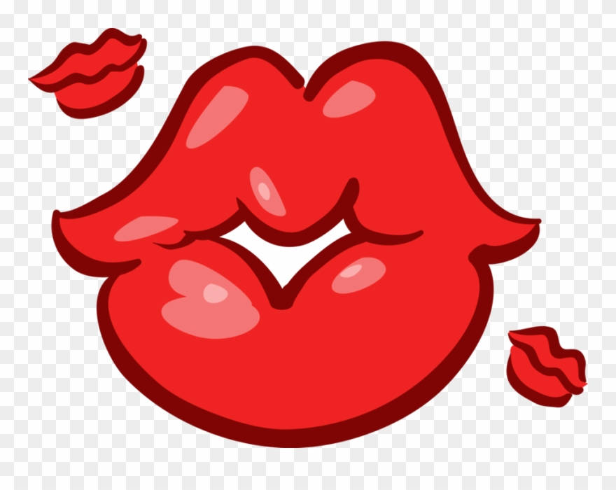 Vector Illustration Of Mouth Lips Blowing Kisses Blowing Kisses