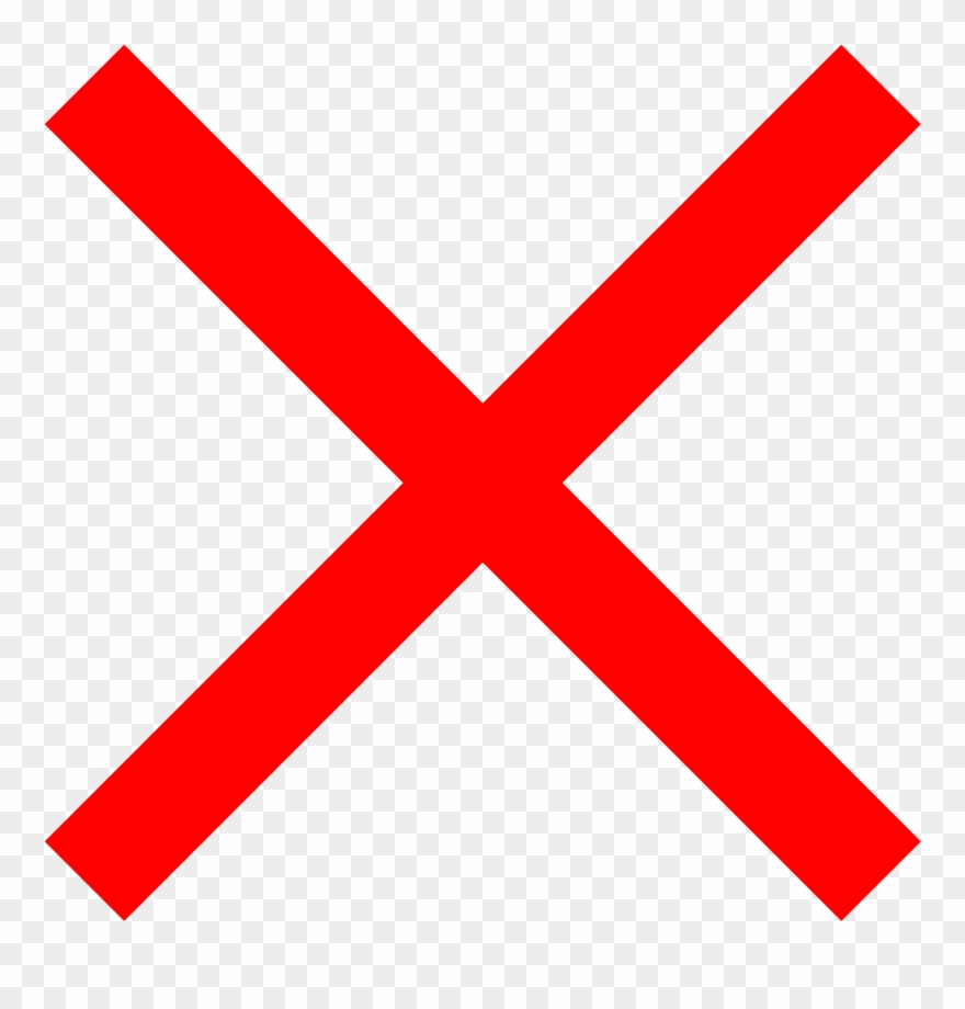 File Saint Andrew S Cross Red Svg Wikimedia Commons - Red Letter X Png Clipart