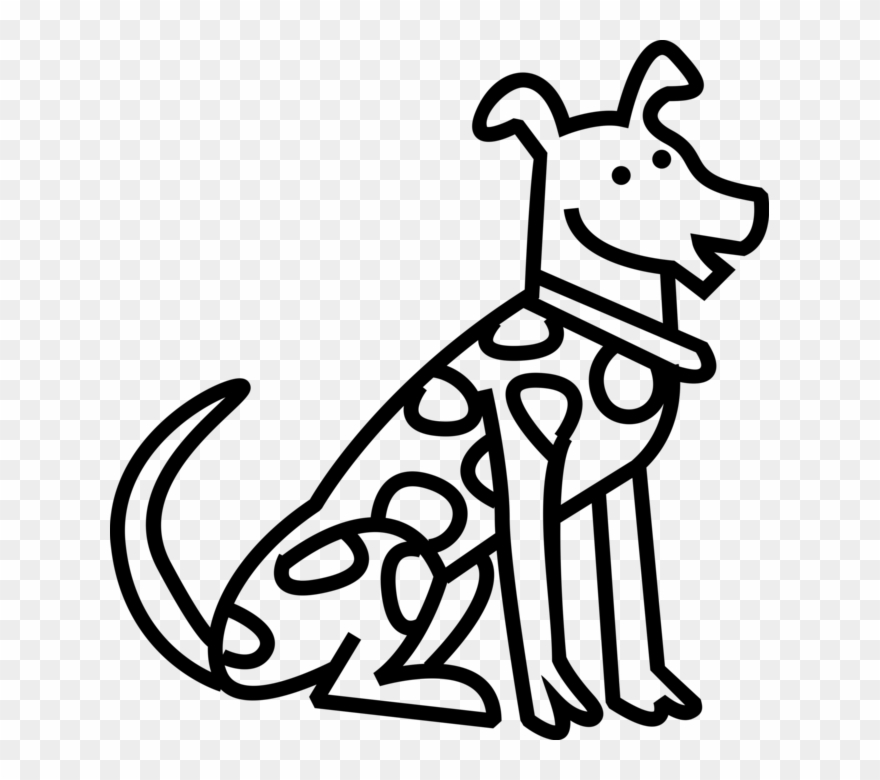 Vector Illustration Of Spotted Dalmatian Dog