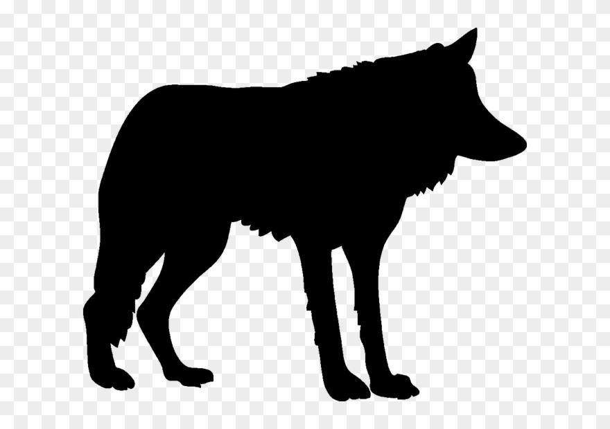 Wolf silhouette. Clipart clip art blue