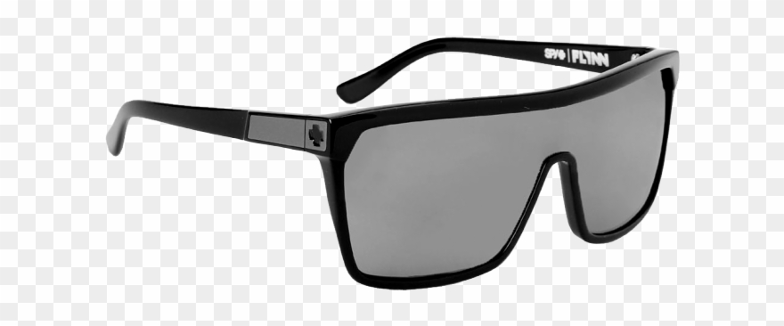 0b9ba6e9ad Spy Flynn Shiny Black Matte Black Grey - Spy Flynn Black W  Matte Black  Sunglasses