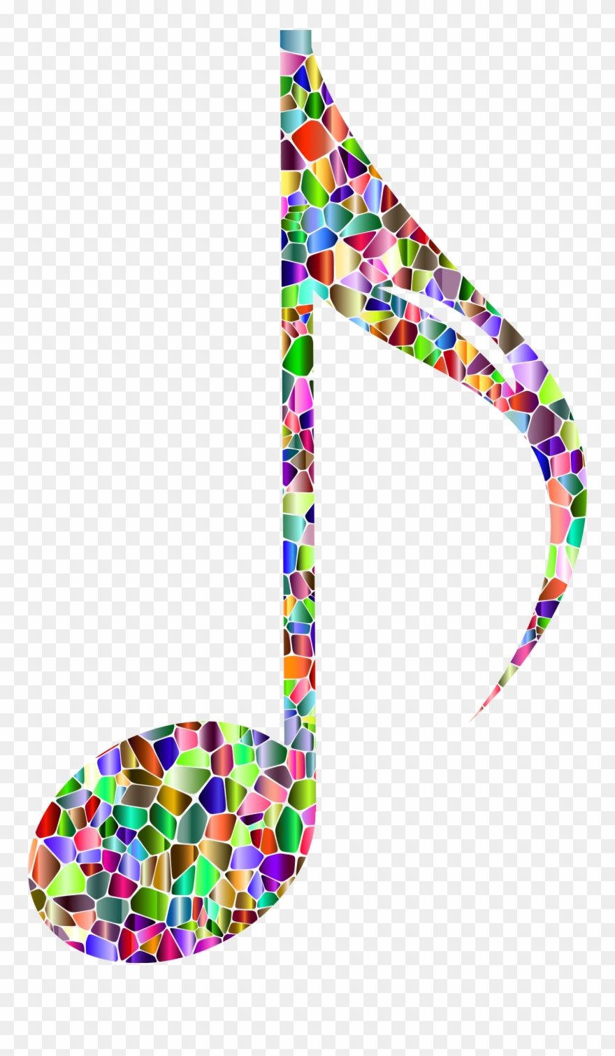 Music notes rainbow. Big image png clipart