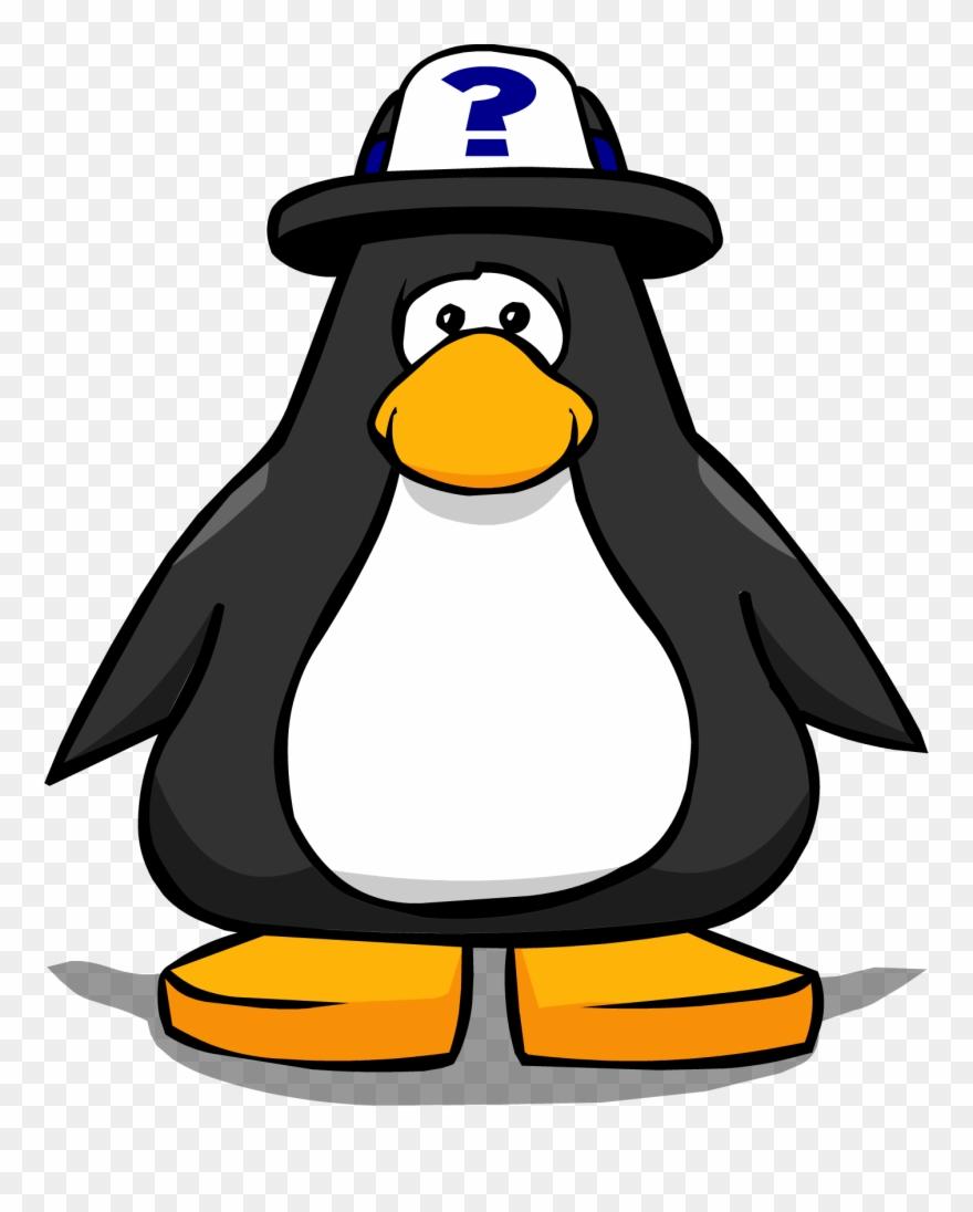 7a34703fe0bb0 Tour Guide Hat 1 - Club Penguin Black Penguin Clipart ( 2140035 ...