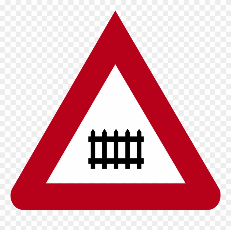 Germany, Road Sign, Railway Crossing, Germany - Icon Png