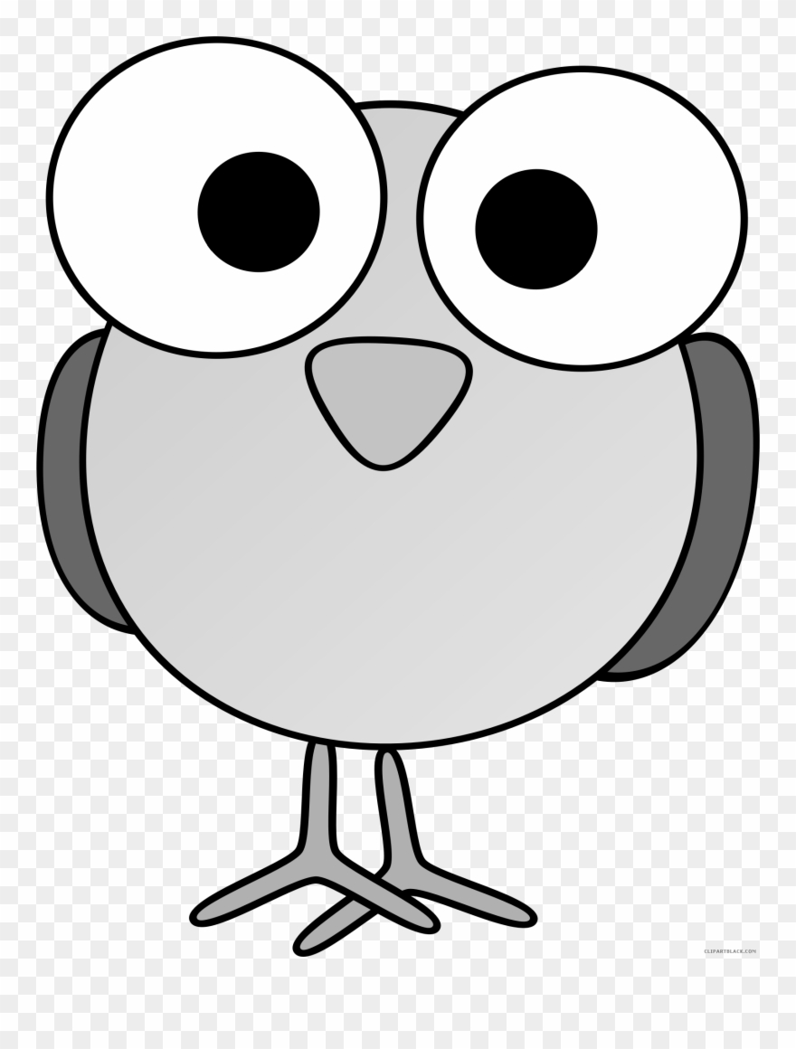 Awesome Bird Animal Free Black White Clipart Images Cartoon Animals With Big Eyes Png Download 2169986 Pinclipart