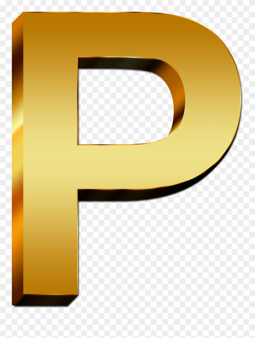 Uppercase Letter Gold Free - Gold Letter P Png Clipart (#14