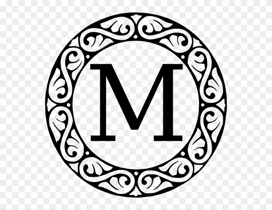 M Monogram Svg Clip Art For Web