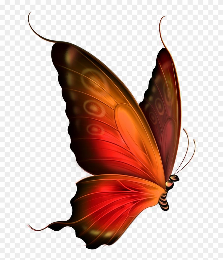Mariposas Para Dibujar A Lapiz Red Butterfly Png Transparent