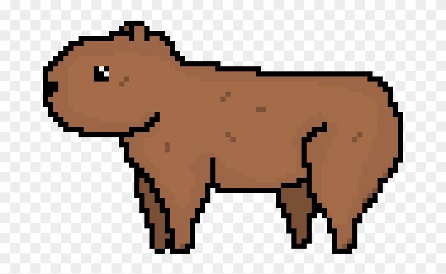Capybara Clipart Transparent Capybara Pixel Art Png