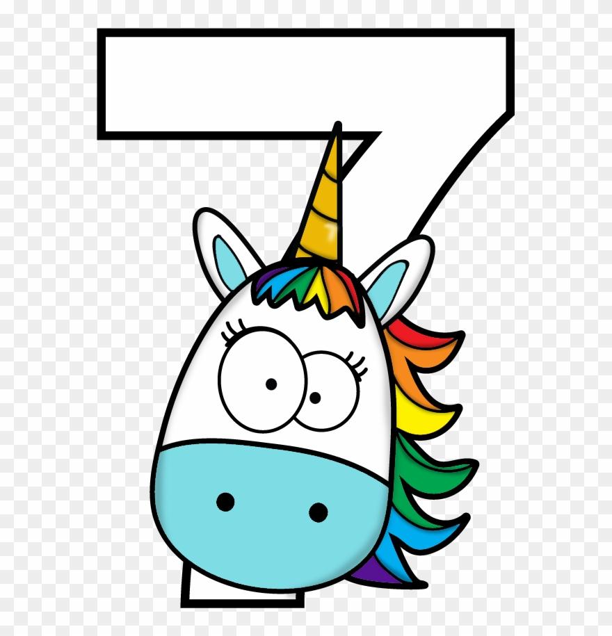7th Birthday Desenhos Infantis De Numeros Clipart 2187483