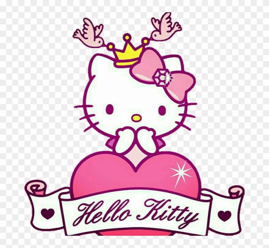 Hellokitty Sanrio Kitty Princess Pink Sketsa Gambar Hello Kitty