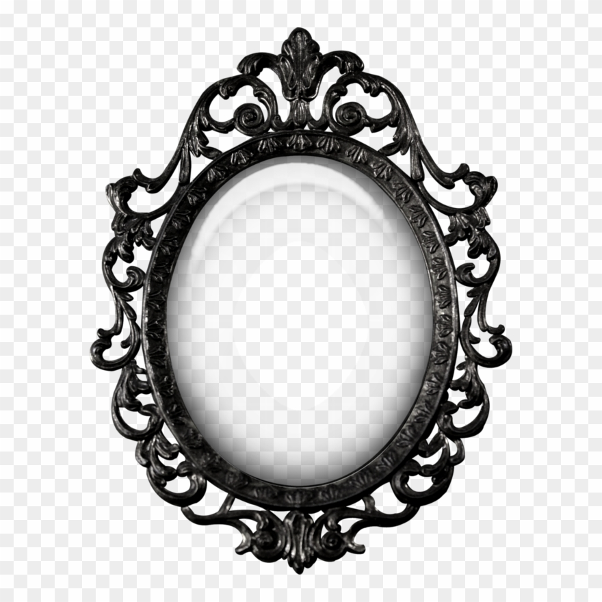 Snow White Mirror Png Clipart, Black And White Mirror Clipart