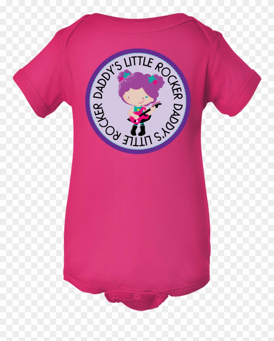 caea9147b Daddys Little Rocker Girl Infant Creeper Hot Pink Baby - Infant ...