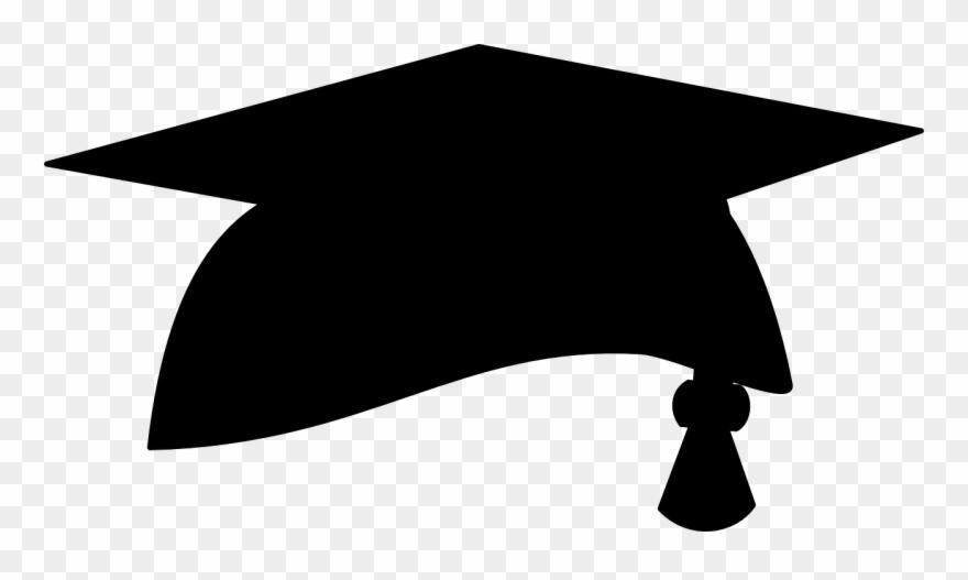 Graduation Hat Graduation Cap Clipart No Background - Black