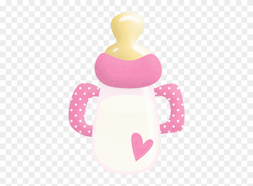 It S A Girl Babies Clip Art Baby Shower Bottle Png Transparent