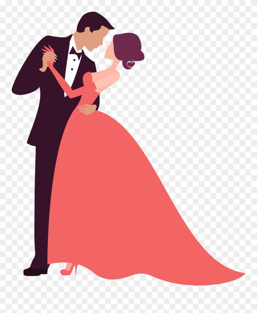 Bridegroom Photography Clip Art Couple Dancing Decoration - Wedding Couple Clip Art Png Transparent Png