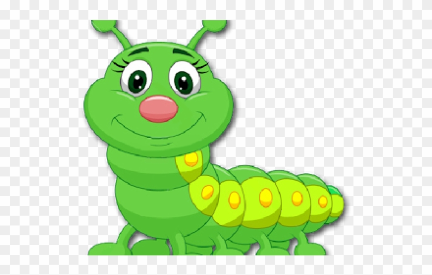 Church Clipart Cute Green Caterpillar Cartoon Png Download