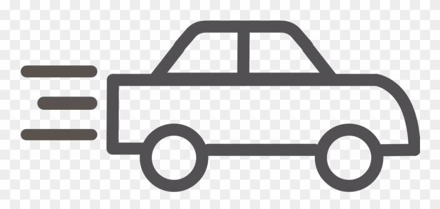 Car outline. Transportation transparent clipart