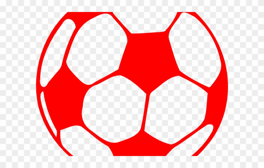 Soccer ball red. Football clipart silhouette png