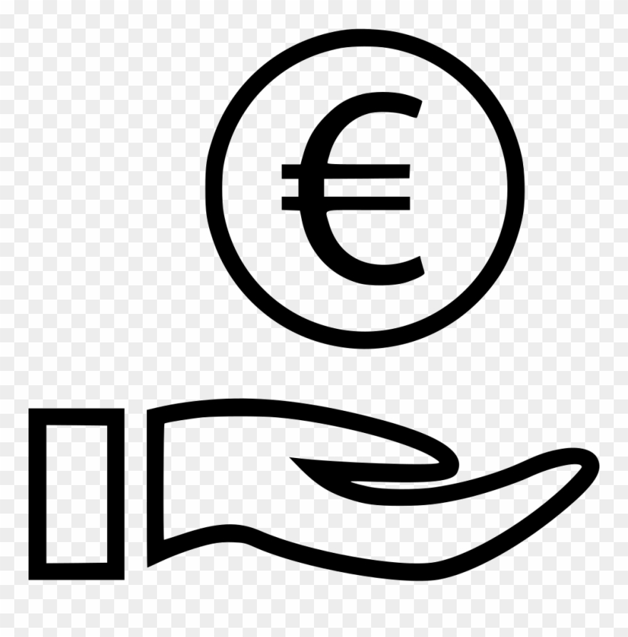 Euro Sign Hands Coin Svg Png Icon - Hand With Dollar Sign