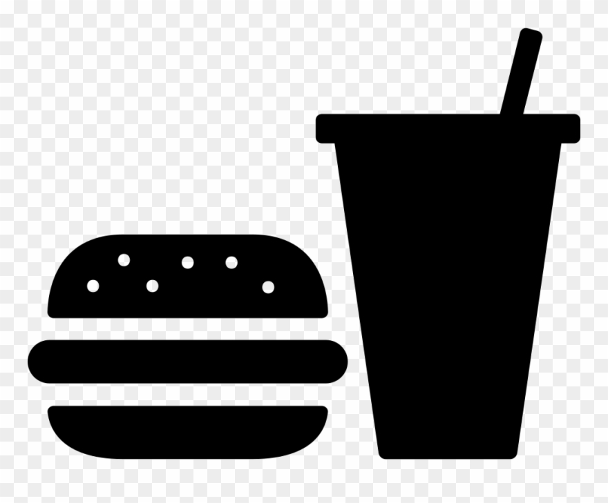 Yükle Burger And Soda Svg Png Icon Free Download