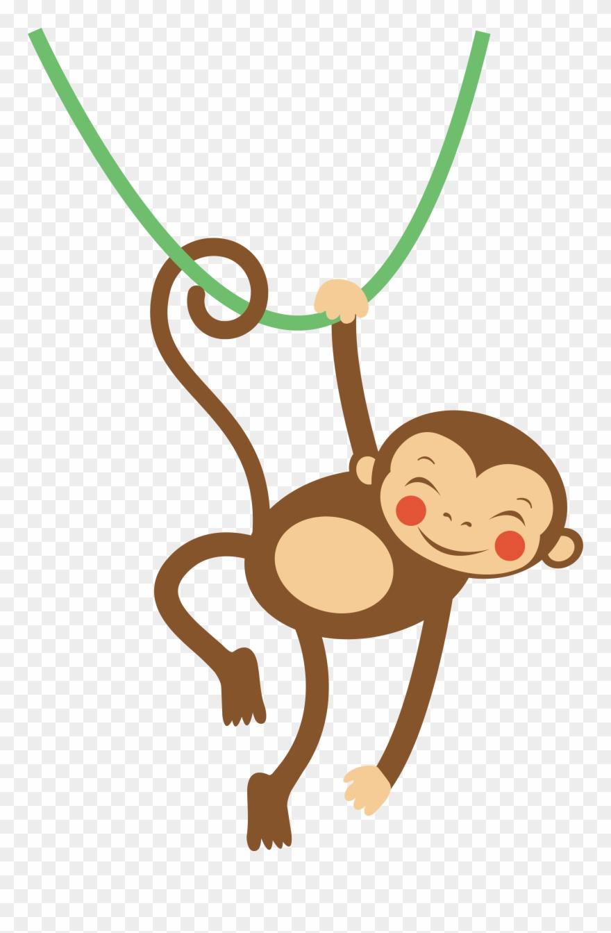"Monkey Cartoon Clip Art Letter Animal Star - Monkeys Bath Mat - 17"" X 24"" By Olillia - Png Download"