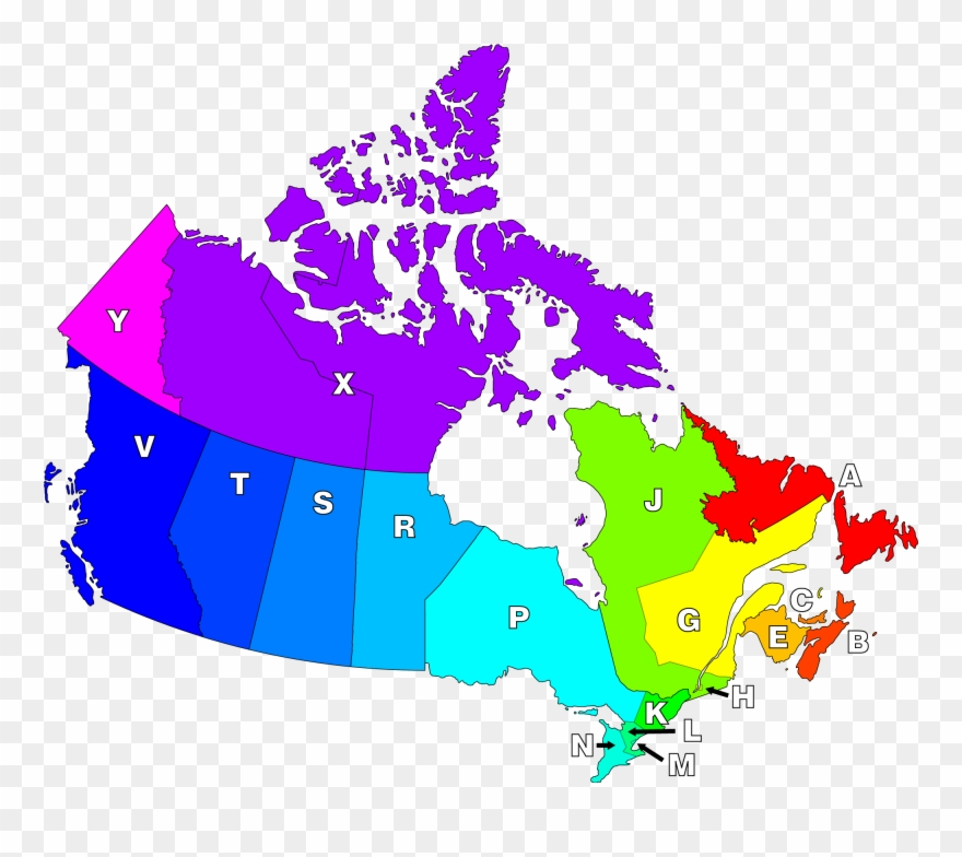Map Without Canada Canadian Postal Districts   Map Of Canada Without Province Names