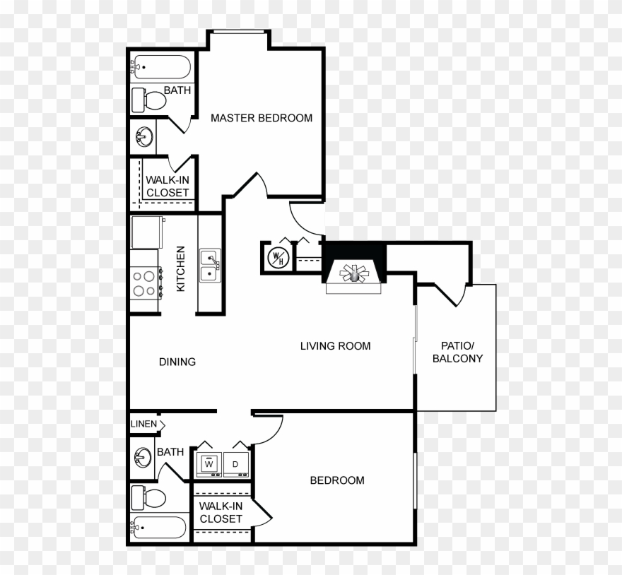 And Here S The Floor Plan With A Simple Furniture Layout Clipart 2228688 Pinclipart