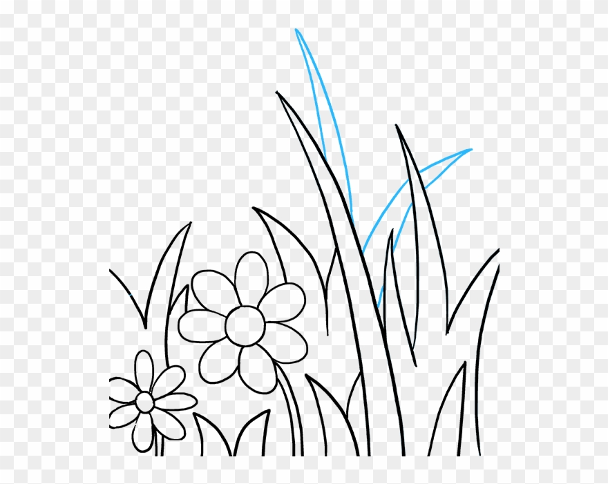 How To Draw Butterfly Garden Clipart 2231067