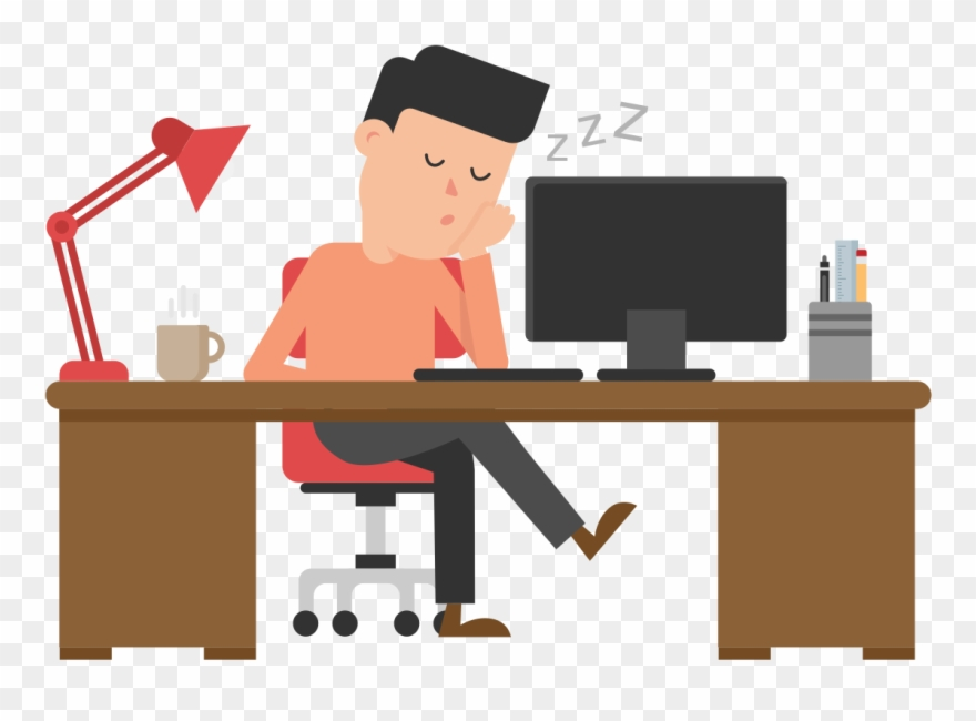 Cartoon Picture Of Man Sleeping At Desk Cartoon Free Clipart 2240781 Pinclipart
