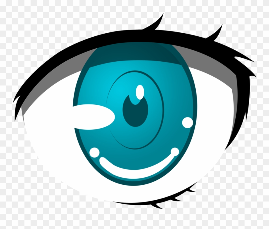 Anime Clipart Cartoon Eyes Png Animated Blue Cartoon Transparent
