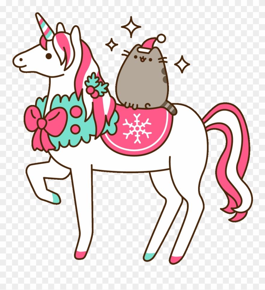 Pusheen Christmas.Winter Wonderland Christmas Sticker By Pusheen Clipart